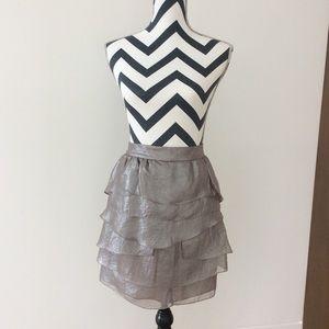 Club Monaco pale grey ruffle skirt